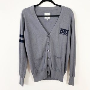 Forever 21 Gray Cardigan I LOVE H81 Large